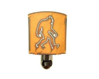 Bigfoot Rusty Metal Night Light