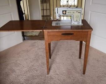singer sewing table etsy. Black Bedroom Furniture Sets. Home Design Ideas