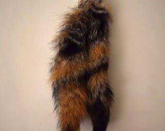 Eco Friendly Ethical Genuine Canadian Grey Fox Tail Taxidermy Fur Pelt