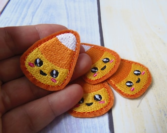 Candy Corn  Feltie  ITH machine embroidery design. Cute Kawaii Candy Corn Feltie In the hoop design.  Single and sorted. Instant download.