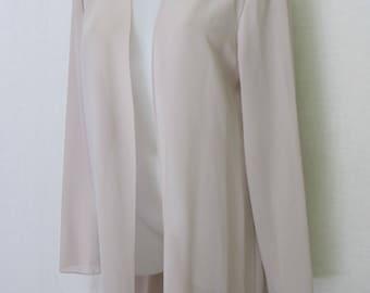 Chiffon Dressing Gown Lounge wear Chiffon Crepe Robe Chiffon Wrap Caftan