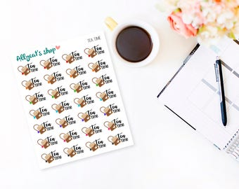 Tea Time - Planner Stickers