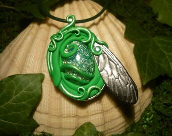 Absinthe Opal Amulet - fantastic handmade Pendant - OOAK