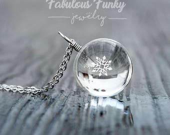 Snowflake Necklace-Silver