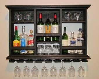Liquor cabinet etsy for Mini bar wall cabinet