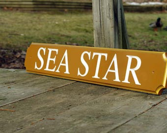 Carved Quarterboard sign - Customize with your name and color