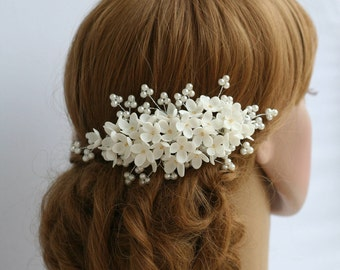 Lilac Flower headpiece, Wedding hair comb, Bridal hair comb, Bridal flower comb, Bridal headpiece, Bridal hair accessories, Wedding comb