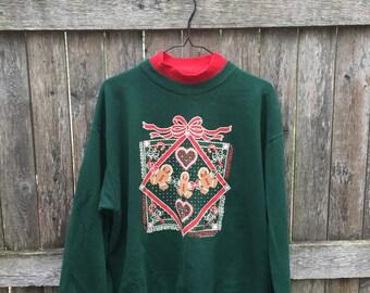 Gingerbread Christmas Sweater Turtleneck
