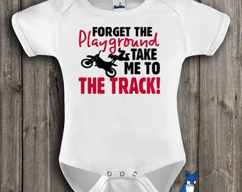 Dirt bike baby-Motocross baby-future dirt biker-Funny baby bodysuit-dirt bike clothes-baby bodysuit-gift for baby-Blue Fox Apparel-358