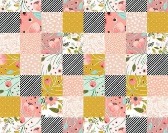 Adventure Quilt Fabric by the Yard Navy Mustard Bear Moose : nursery quilt fabric - Adamdwight.com