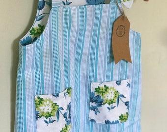 Reversible cotton dress Blue Floral Size 6 months