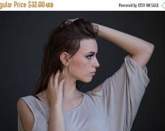 SALE Stud hoop earrings - Hoop earrings - Sterling silver hoop earrings - Large hoop earrings - Large silver hoop earrings
