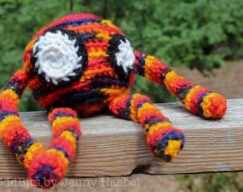 Crochet Rainbow Puffball OddBit Amigurumi