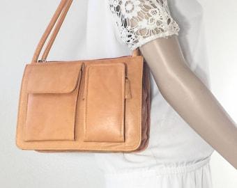 Tan Leather Purse, Bag, Shoulder Bag