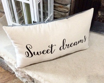 Bed Pillow, Word Pillow, Nursery Decor, Bedding, Baby Pillow, Gift For