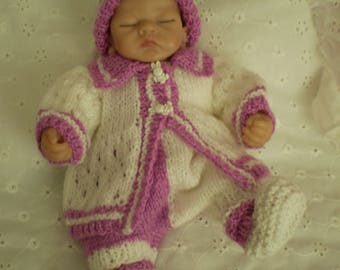 hand Knitted 10 inch dolls clothes to fit Ashton Drake/similar dolls