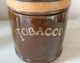 Vintage Ceramic Tobacco Jar