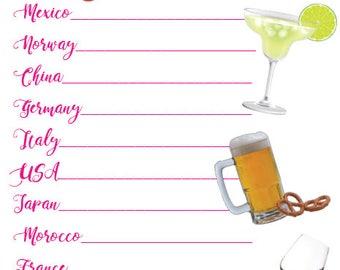 EPCOT Drink Passport