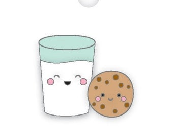 Milk & Cookies Collectible pin/ Doodlebug Collection/Christmas collectible pin/ Collectible pin Limited Edition