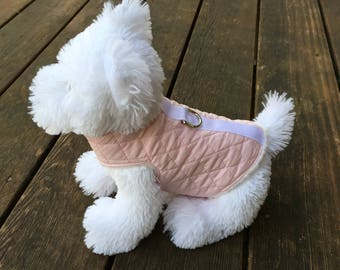 Pretty Pink Quilted Winter Coat Harness