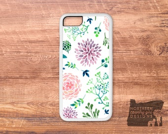 floral iPhone case / watercolor / floral phone case / iPhone 7 case / iPhone 6s case / floral iPhone case / iPhone case / iPhone 6 plus case