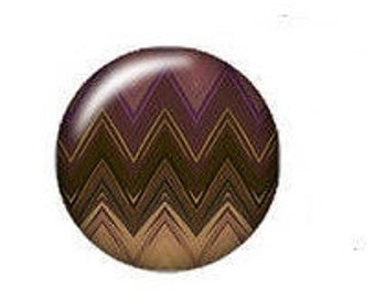 Your Brown purple 18mm glass snap button