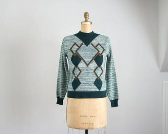 60s mod geo space dye sweater