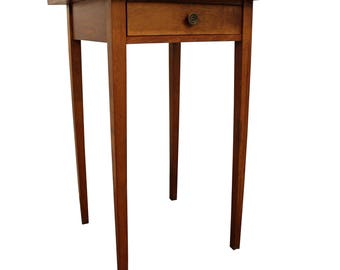 Antique Late 1800's 1-Drawer Pine Stand/End Table