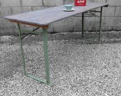 Trestle Table Industrial Folding Kitchen Vintage Dining 1940s MOD Military
