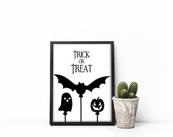 Halloween, Wall Decor, Halloween Wall Art, Printable Wall Art, Bedroom Wall  Art