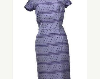 SALE 1950's Dress. Vintage Gay Gibson Purple Wiggle Dress, Size Small