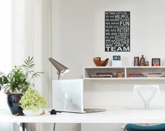 Office wall decor   Etsy