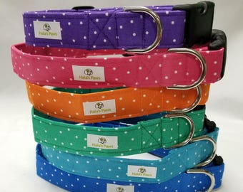 Polka Dots Dog Collar - Assorted Colors