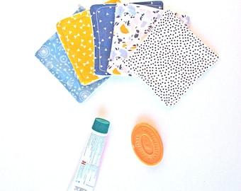 Washable Cottons Triangle Dots Scandinavian Design Reusable Cottons- Zero Waste Home - Natural Beauty