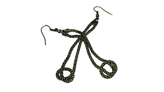 Snake chain dangling earrings, long drop earrings for woman