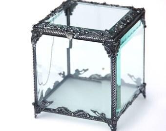 Cubic Casket, Glass Display Box, Clear Glass Jewelry Box, Glass Box, Box Glass, Jewelry Box, Display Box,