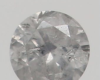 2.30 MM 0.043 Ct Natural Loose Diamond Round Shape Fancy White Color I1 K3156