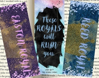 The Royals Series Inspired Bookmarks