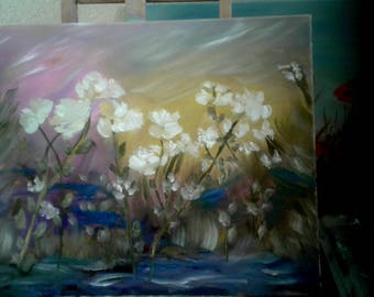 Beautiful floral oil painting