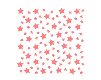 Stars Pattern Cookie Stencil, Space Stars Cookie Stencil, Scattered Stars Cookie Stencil, Stars Stencil, Outer Space Stencil