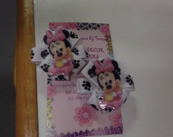 Baby Minnie Paw Hair Clips-Set of 2
