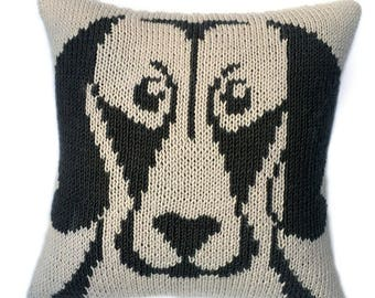 Weimaraner blueprint etsy weimaraner cushion knitting pattern knitted cushion cover pattern dog face pillow pdf malvernweather Choice Image