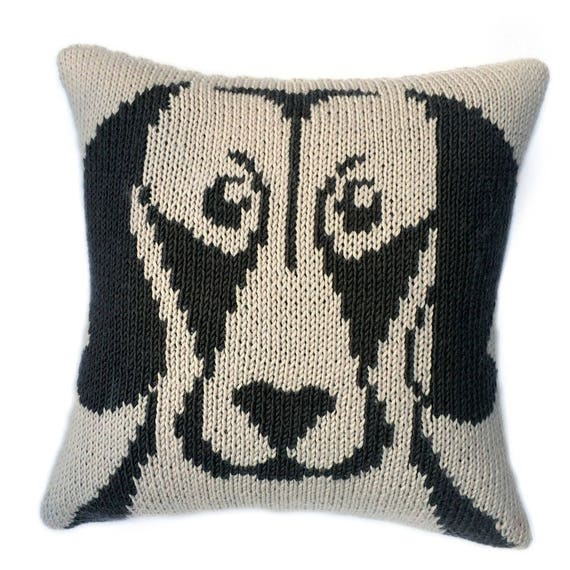 weimaraner cushion knitting pattern knitted cushion cover pattern dog face pillow pdf knitting pattern knitting patterns knitting pdf
