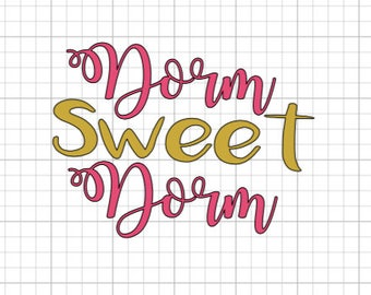 Dorm SWEET Dorm vinyl decal