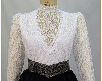 Lace Challis Edwardian Blouse