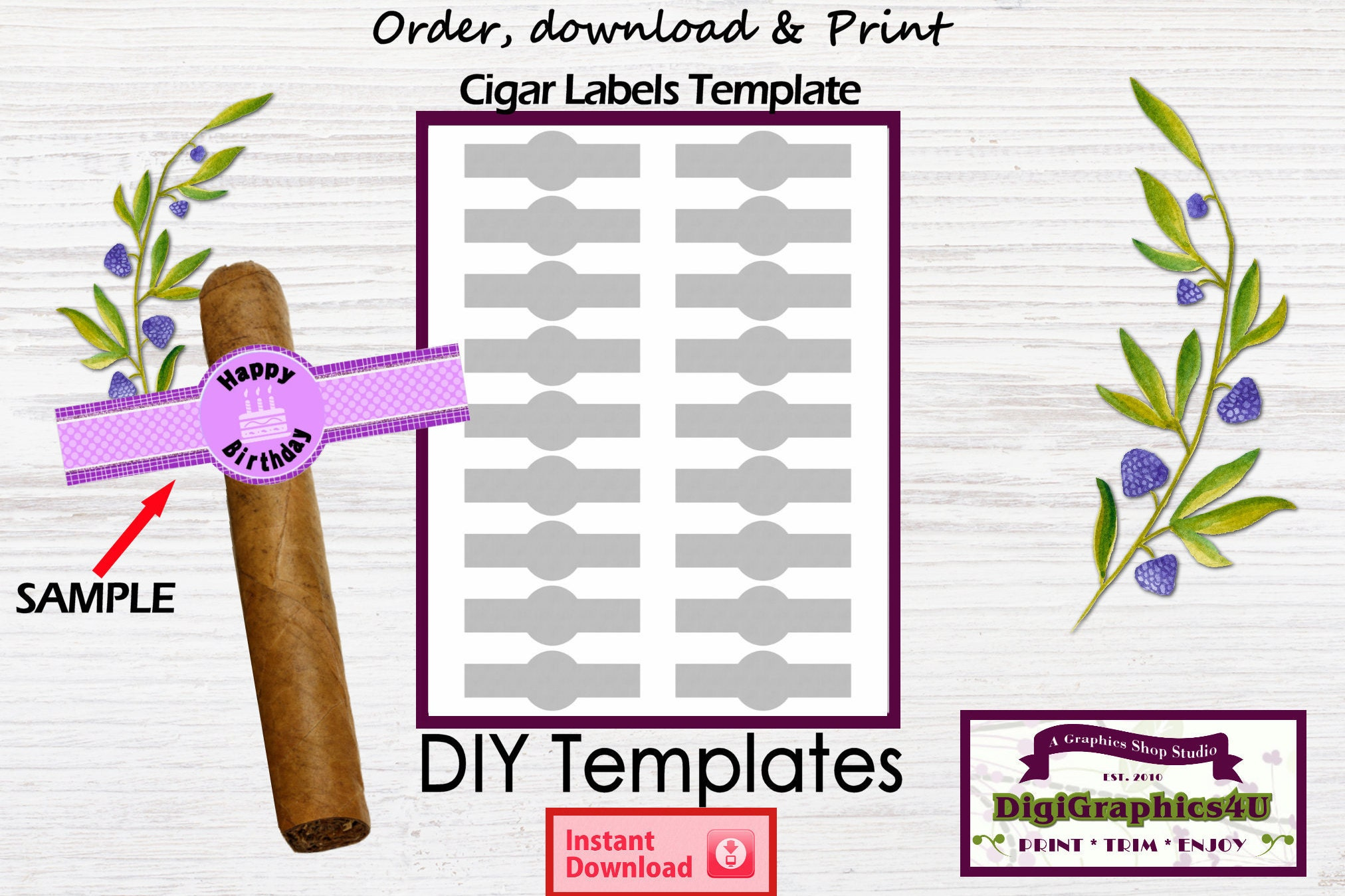 It is a photo of Amazing Free Printable Cigar Labels