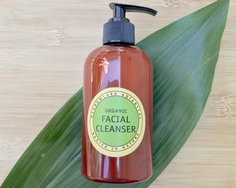Deep Cleansing Face Wash | Organic Facial Cleanser for Oily Skin | Non-Drying Acne Soap | Face Cleanser Cream | Vegan Skincare | 8.5oz