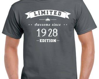90th Birthday T-Shirt - 90th Birthday Gift - 90 Years Old - 90 Year Old Birthday Shirt - Turning 90 - 90th Birthday Party Shirt - Born 1928