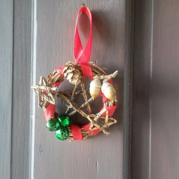 Pagan Yule Decor, Pagan Decoration, Yule Decoration, Yule Ornaments, Ornamental Wreath, Pagan, Pagan Gifts, Rustic Decor, Yule Gifts