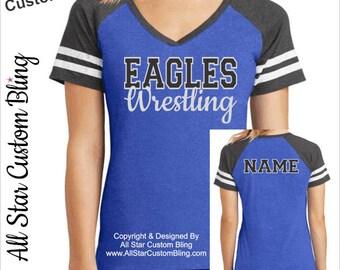 Wrestling Shirt, Custom Wrestling Team Shirt, Mom Wrestling Shirt, Wrestling Mom Shirt, Wrestling Shirt, Glitter Wrestling Tee